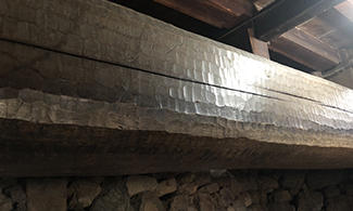 400–500 year-old support beams.