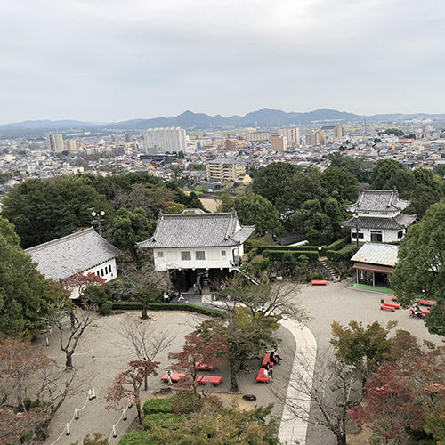 Looking down from the top of Inuyama Castle